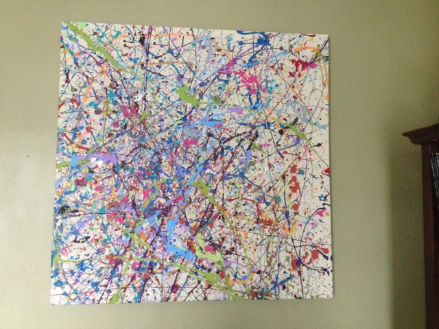 Our attempt at faking a Jackson Pollock